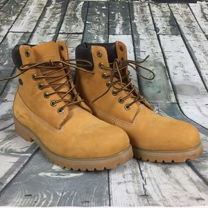 LUGZ Tan Suede Work Boots Men Size 10